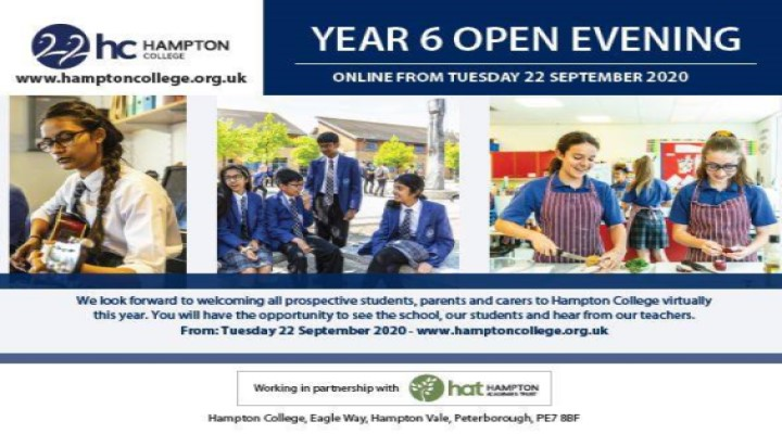 Year 6 Open Evening at Hampton College
